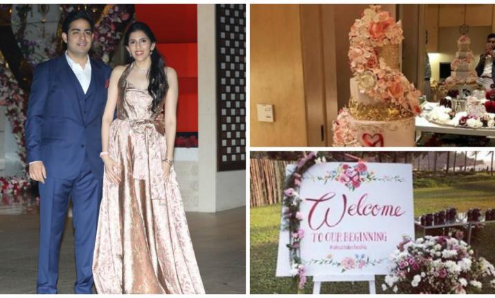 AkashAmbaniandShlokaMehta's engagement cake was a