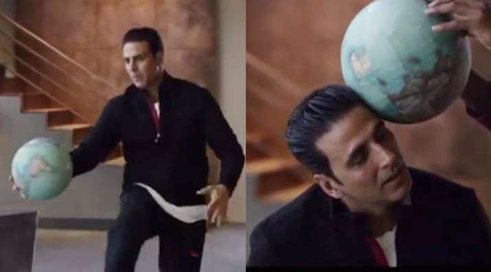 Akshay Kumar stays fit this Sunday by playing volleyball at