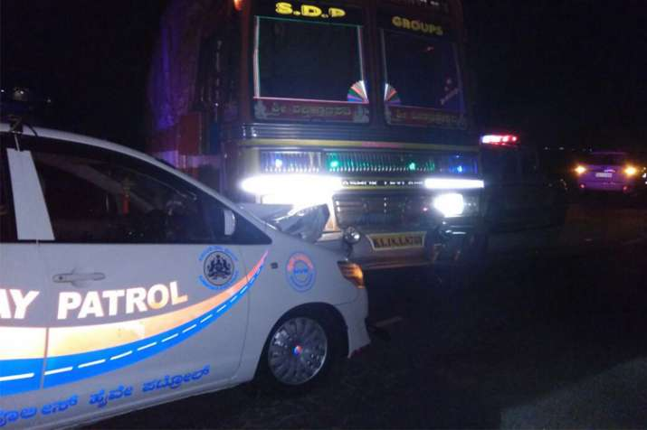 India Tv - On April 17, Hegde's escort vehicle was hit by a truck at around 11:30 pm when he was travelling near Halageri in Ranebennur taluk of Haveri. Police arrested the truck driver. The minister had claimed that the accident was a deliberate attempt on his life.