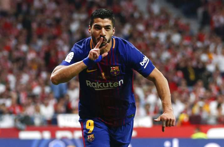 India Tv - Suarez opened the scoring for Barca
