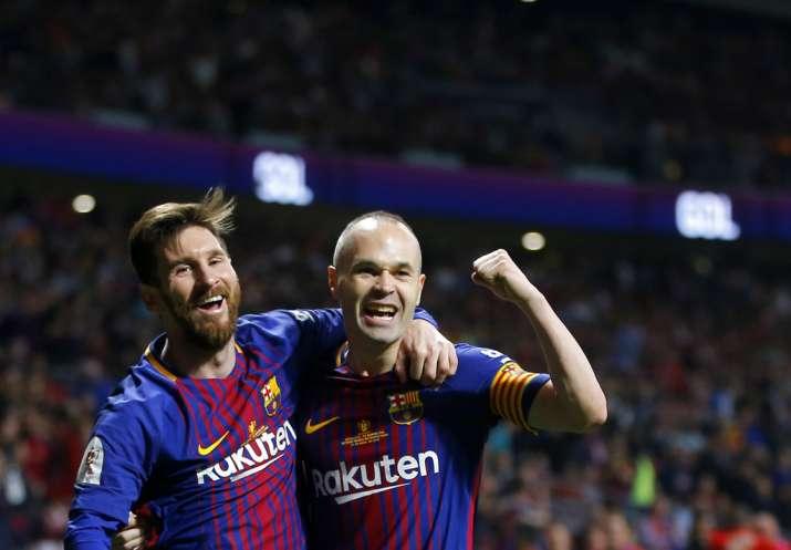 India Tv - Messi scored through Iniesta's brilliant assist.