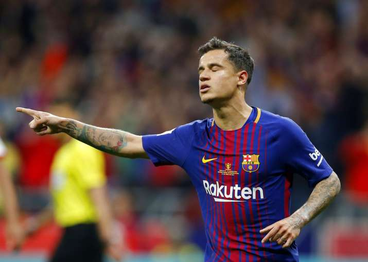 India Tv - Coutinho scored a penalty to give Barca a 5-0 lead