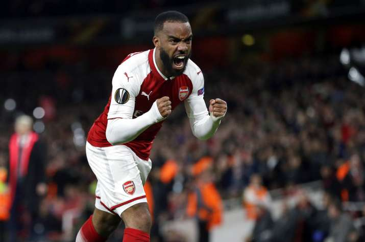 India Tv - Lacazette scored early in the first half for Arsenal to give them the lead.