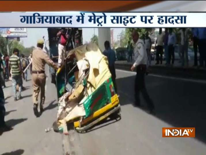 Ghaziabad: Four injured after steel girder from