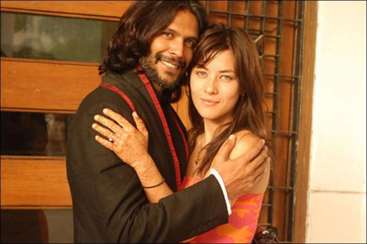 India Tv - Milind Soman and Mylene Jampanoi