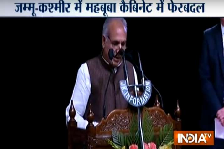 Jammu and Kashmir cabinet reshuffle: BJP's Kavinder Gupta