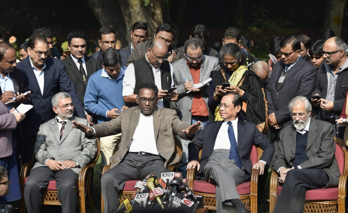 Supreme Court judge Chelameswar, Gogoi, Lokur and Joseph
