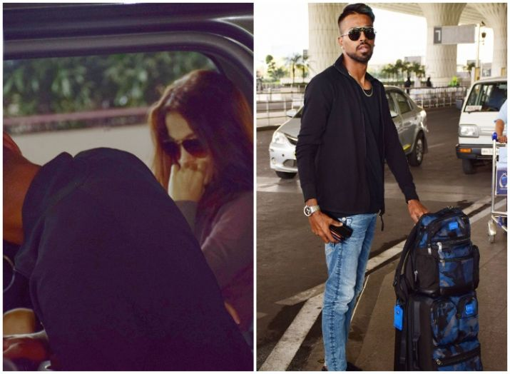 India Tv - Hardik Pandya with girlfriend Elli AvRam