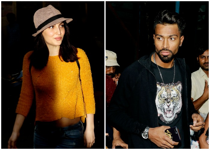 India Tv - Elli AvRam snapped with rumoured boyfriend cricketer Hardik Pandya at an ad shoot