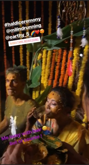 India Tv - ankita konwar milind soman wedding