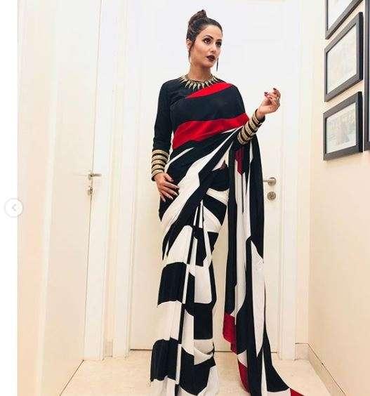 India Tv - Hina Khan in saree