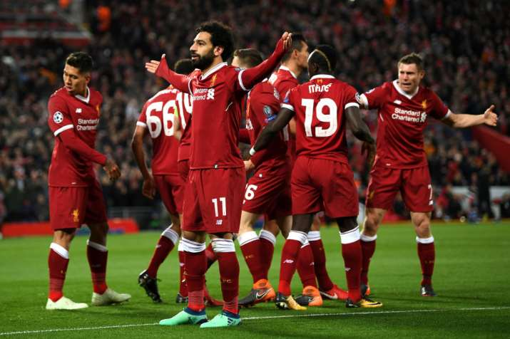 India Tv - Salah scored his 38th goal of the season for Liverpool.