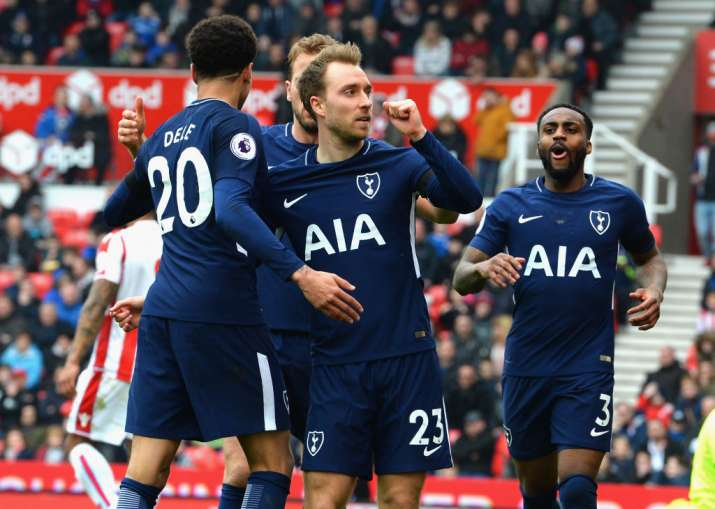 India Tv - Eriksen's brace saw off Stoke City