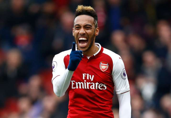 India Tv - Aubameyang scored for Arsenal after going 1-0 down.