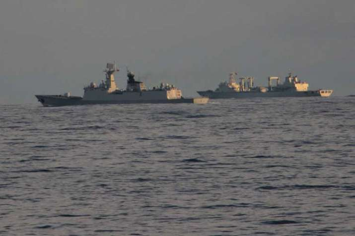 Indian Navy spots Chinese Navy warship vessel in Indian