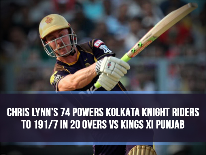 India Tv - Chris Lynn in action during the IPL 2018 match at Eden Gardens