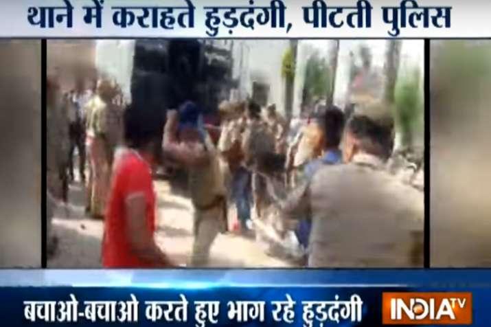 Meerut Police teaches agitators of SC/ST Act violence a