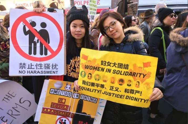 India Tv - Unreported sexualoffencesagainst women became a major part of the global discussion when a Hollywood scandal started #MeToo campaign worldwide, including in China