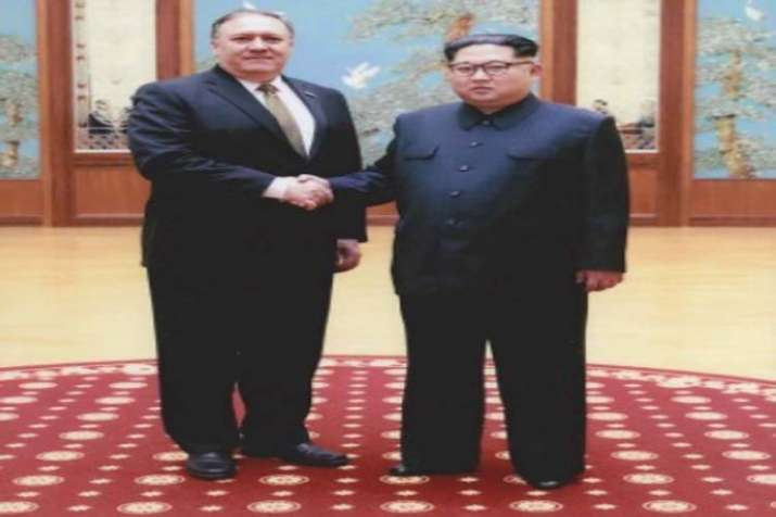 Mike Pompeo with Kim Jong-Un