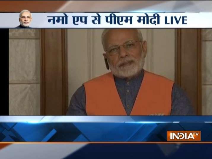 PM Modi interacts with Karnataka BJP faction via NaMo app
