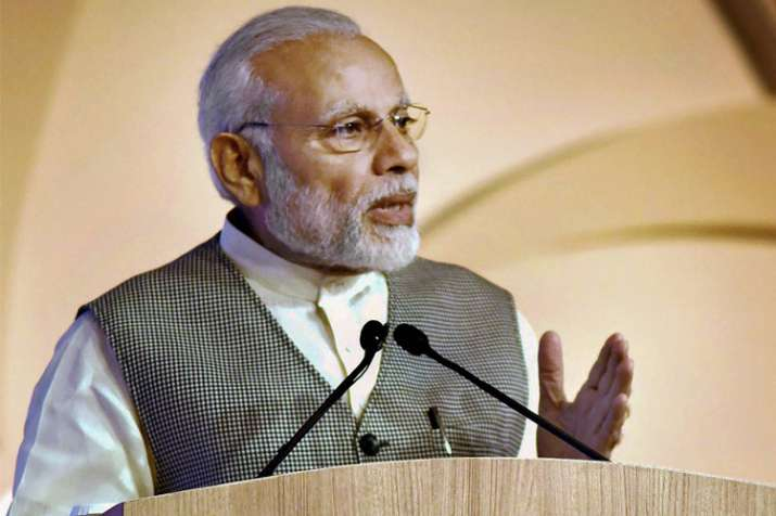 Prime Minister Narendra Modi speaks during the 16th