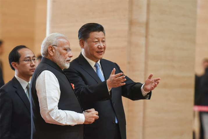 Prime Minister Narendra Modi with Chinese President Xi