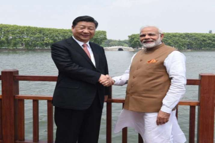PM Modi and Chinese President Xi during a boat ride in East