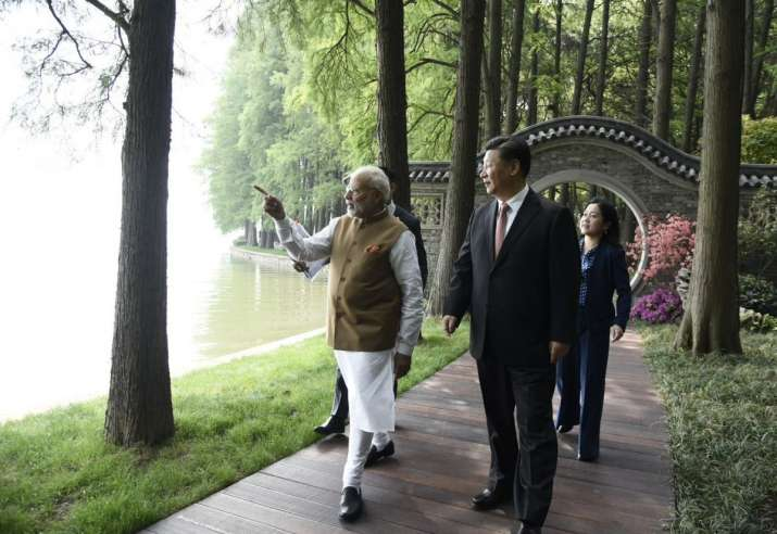 PM Narendra Modi with Chinese President Xi Jinping in China.