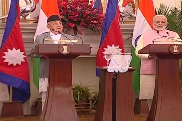 Nepal PM KP Sharma Oli and PM Narendra Modi issue joint