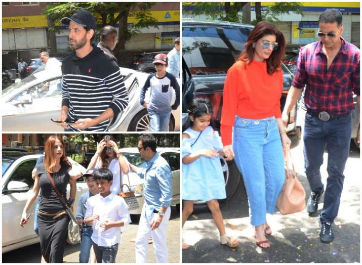 Hrithik Roshan and ex-wife Sussanne Khan clicked with