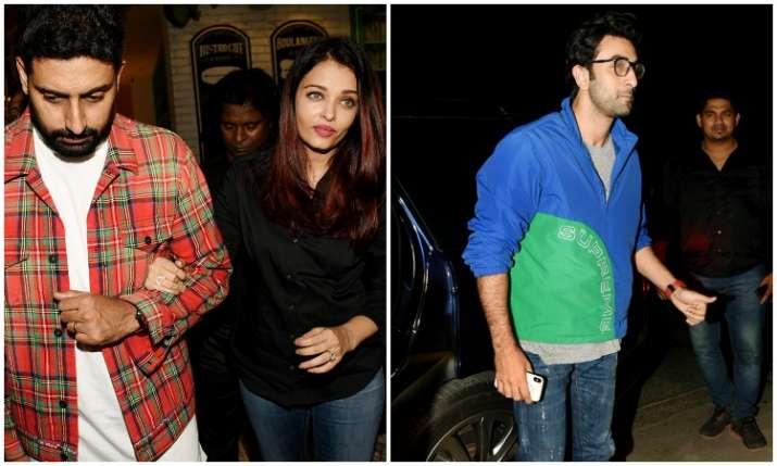 Aishwarya rai bachchan Abhishek Bachchan and others at