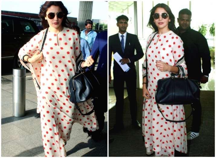 Anushka Sharma heads to Bengaluru