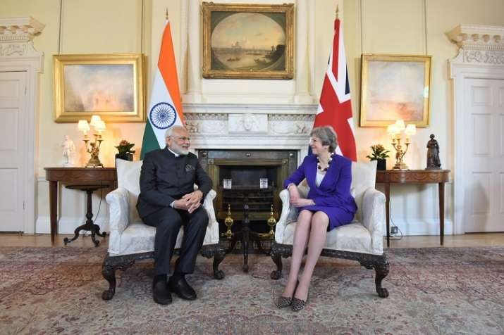 Prime Minister Narendra Modi with his UK counterpart
