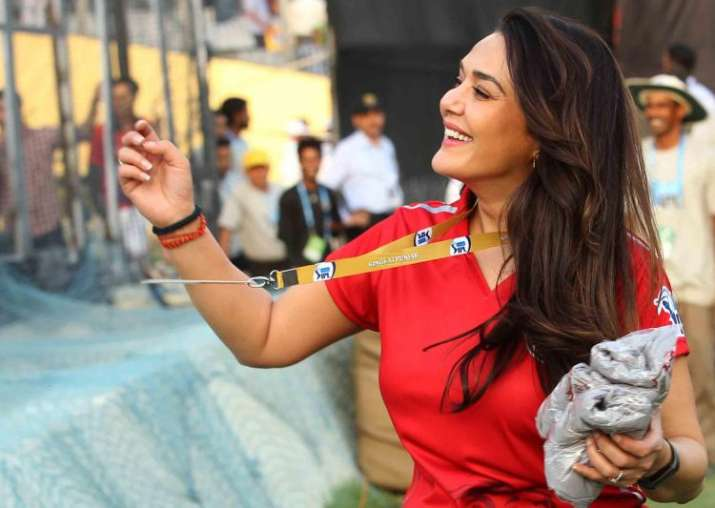 India Tv - Preity Zinta all smiles during KXIP's opening match at Mohali