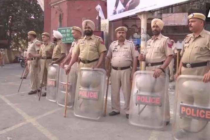 Security beefed up in Amritsar amid the ongoing violent