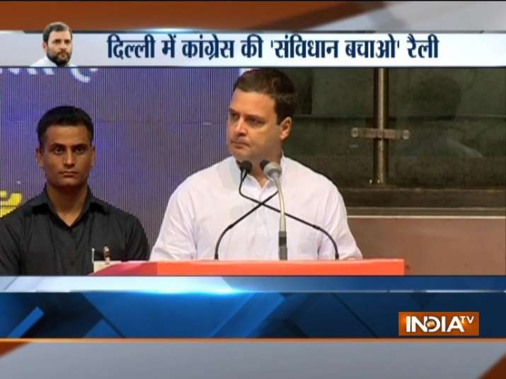 Rahul Gandhi at 'Save the Constitution' drive Live Updates: