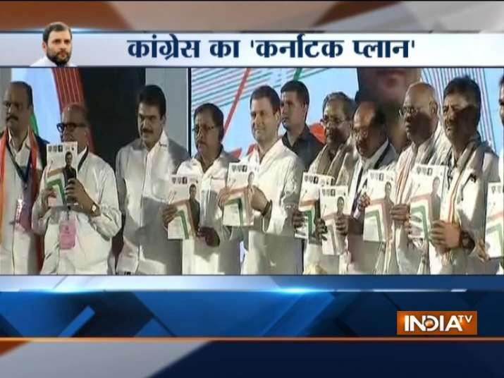 Rahul Gandhi. CM Siddaramaiah release Congress manifesto