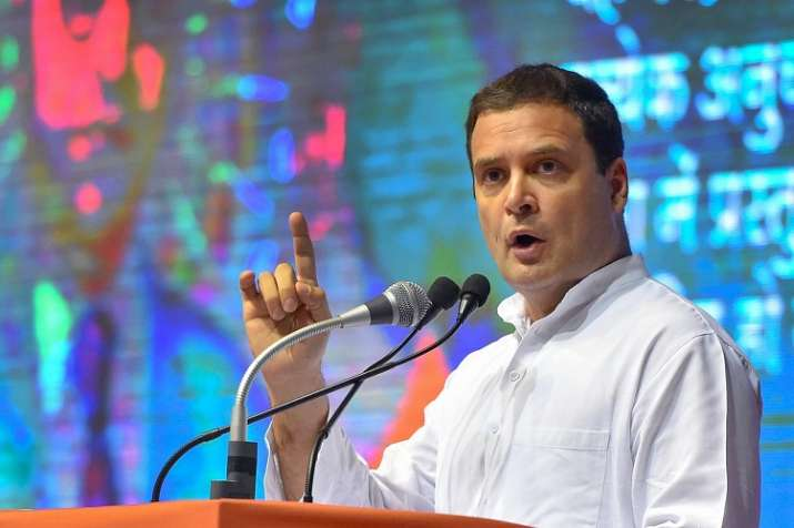 India Tv - Rahul Gandhi at the launch of Congress'  'Save the Constitution' campaign in Delhi. (PTI Photo)