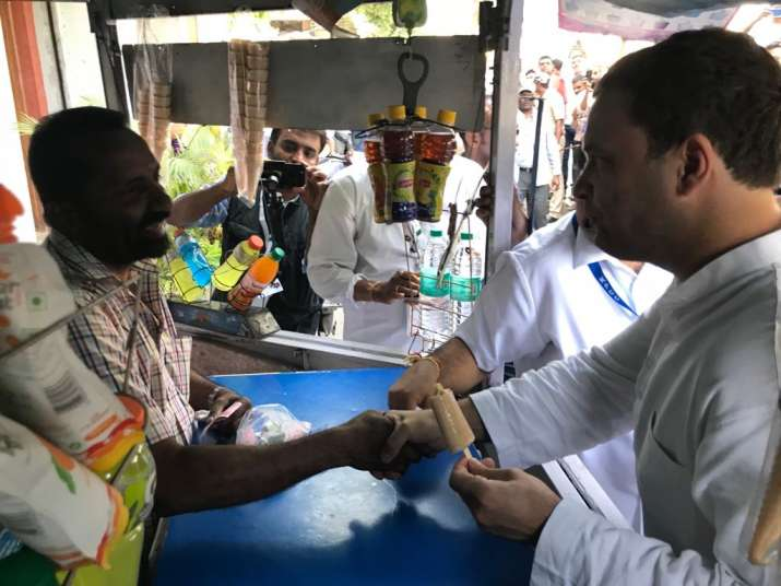 India Tv - Travelling in a Metro train to walking down the popular streets of Bengaluru and having kulfi from a roadside ice cream parlour, Congress president Rahul Gandhi did it all in