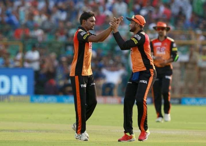 Live Cricket Score IPL 2018, Match 28, RR vs SRH:Sandeep