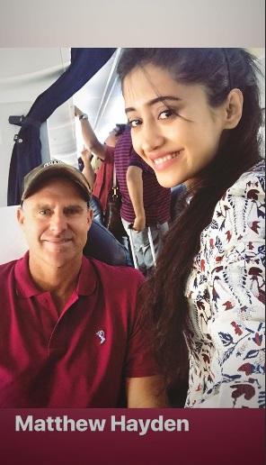 India Tv - Shivangi Joshi with Matthew Hayden