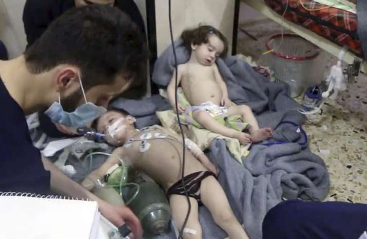 Suspected poison gas attack in Syria killed at least 40