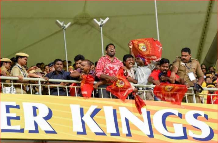 Activists of a pro-Tamil outfit protest during the IPL