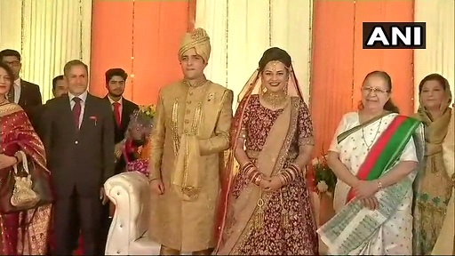 India Tv - Lok Sabha Speaker Sumitra Mahajan too remained present at the reception of Tina Dabi and Athar Shafi