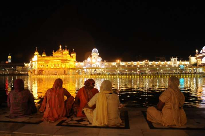 India Tv - A view of illuminated Golden Temple on the eve of Baisakhi in Amritsar.