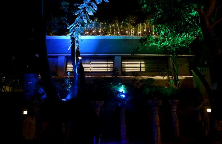 India Tv - Anil Kapoor's house decorated for Sonam Kapoor's wedding