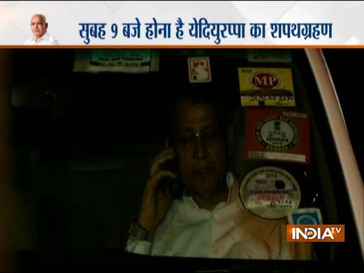 India Tv - Congress refuses  to concede. Abhishek Manu Singhvi leaves his residence for CJI's home