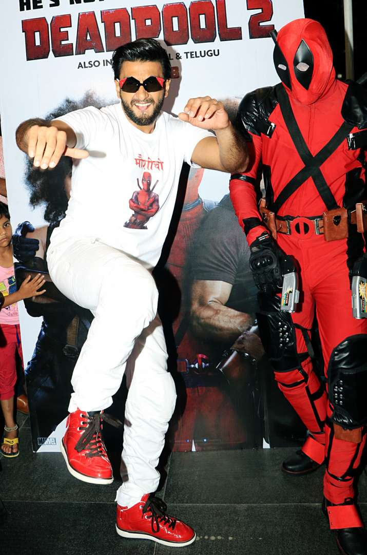 India Tv - Ranveer Singh at his quirky best at Deadpool 2 special screening