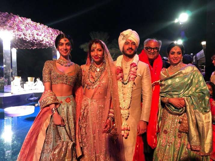India Tv - Last picture of Sridevi from Mohit Marwah wedding