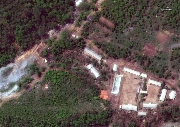 Punggye-ri test site in North Korea